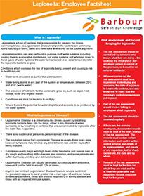 Legionella Employee Factsheet