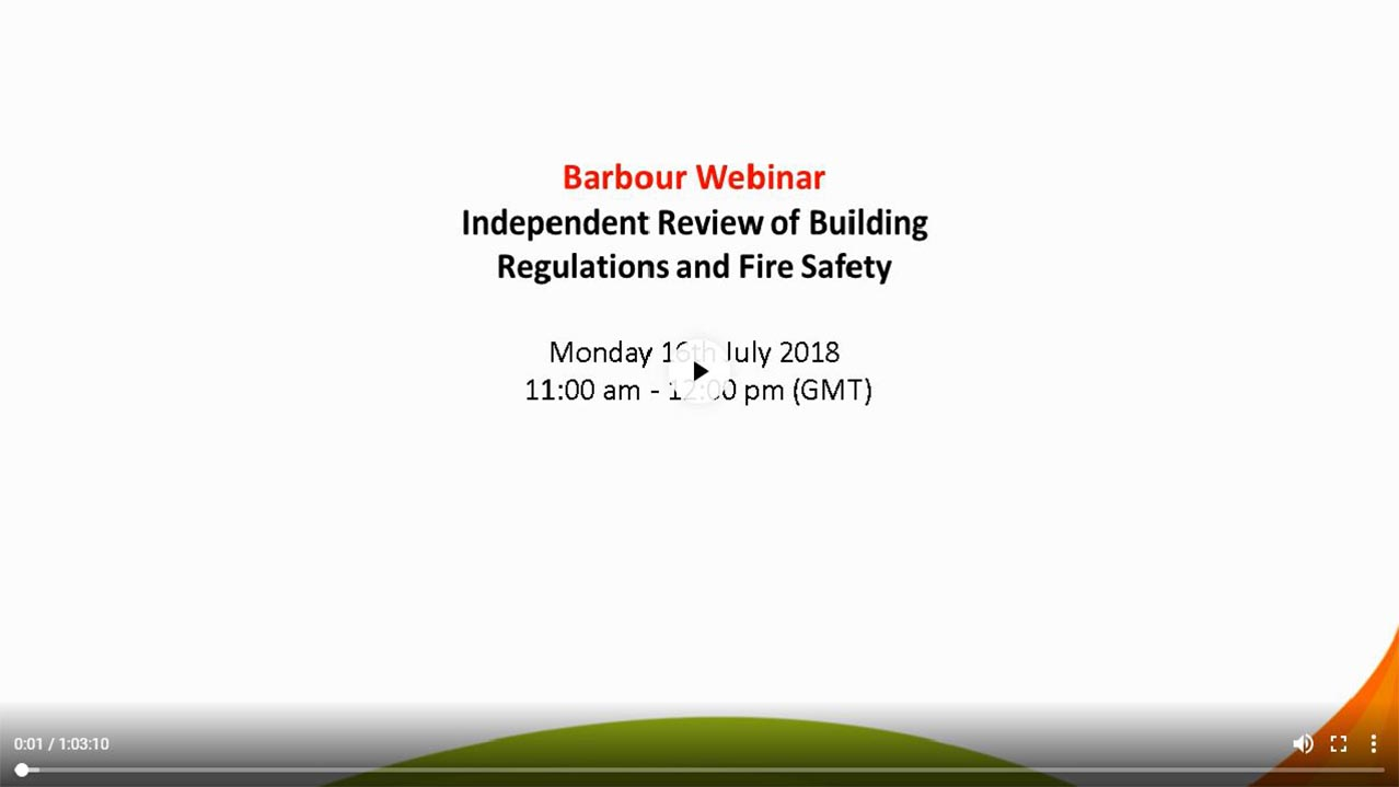 Building a safer future - Learning lessons from Grenfell to deliver safer buildings